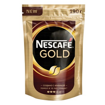 Кофе Nescafe Gold, пакет 190 гр