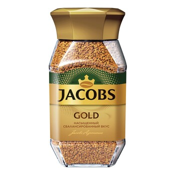 Кофе Jacobs Gold, стеклянная банка 95 г