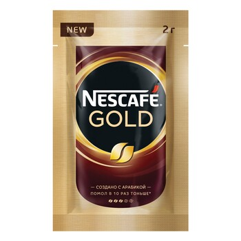 Кофе Nescafe Gold, пакетик 2 гр