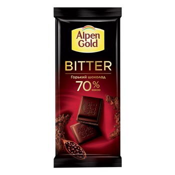 Шоколад Alpen Gold горький, 70% какао 85 гр