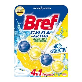 Bref туалетный блок Сила-Актив Лимонная свежесть, 50 г