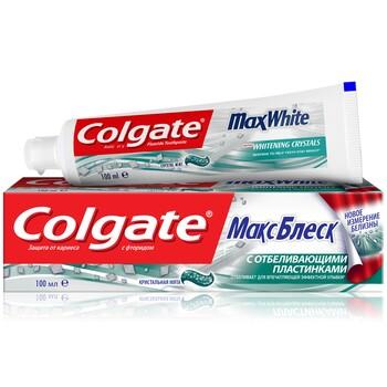 """Зубная паста Colgate """"Макс Блеск"""" отбеливающая 100 мл"""