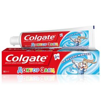 """Детская зубная паста Colgate """"Доктор Заяц"""" вкус жвачки 50 мл"""