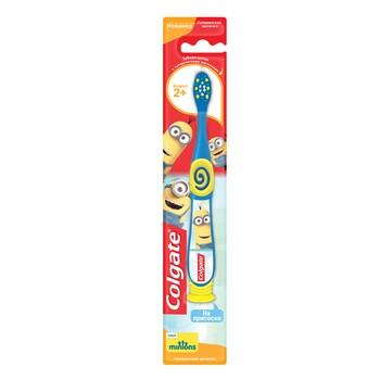 """Детская зубная щетка Colgate """"Миньоны"""" для детей 2+, супермягкая"""