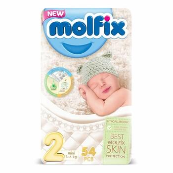 Подгузники Molfix 3D Eco Pack №2 mini, 3-6 кг (54 шт)