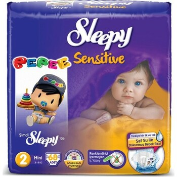 Подгузники Sleepy Sensitive Mini 2, 3-6 кг 68 шт