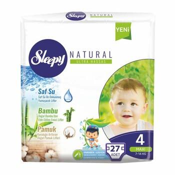 Подгузники Sleepy Natural Maxi 4, 7-14 кг 27 шт