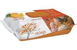 Влажные салфетки SLEEPY апелсиновый пластиковая крышка, 120 шт