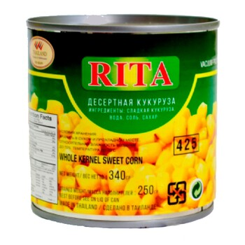 Десертная Кукуруза сладкая RITA, 340 г