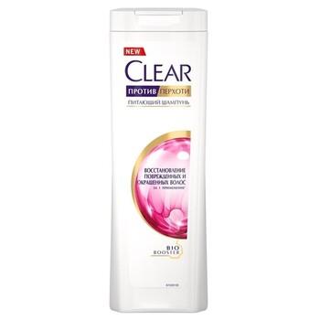 Clear шампунь против перхоти Восстановление поврежденных и окрашенных волос 400 мл