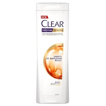 Clear шампунь против перхоти для женщин питающий Защита от выпадения волос 400 мл