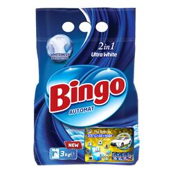 """Kir ýuwujy soda Bingo """"Ultra White"""" 3 kg"""