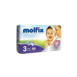 Подгузники Molfix 3D №3 Midi, 4-9 кг  (46 шт)