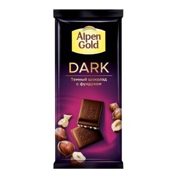 Шоколад Alpen Gold темный с фундуком, 85 гр