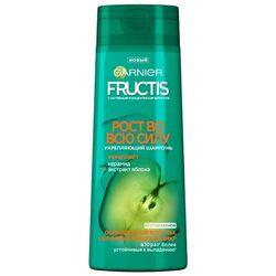 GARNIER Fructis шампунь Рост во всю силу Укрепляющий с Керамидом и экстрактом Яблока для ослабленных волос, склонных к выпадению, 400 мл