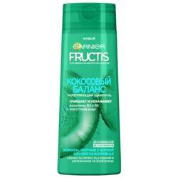 GARNIER Fructis шампунь Кокосовый Баланс Укрепляющий с витаминами и Кокосовой водой для волос жирных у корней и сухих на кончиках, 400 мл