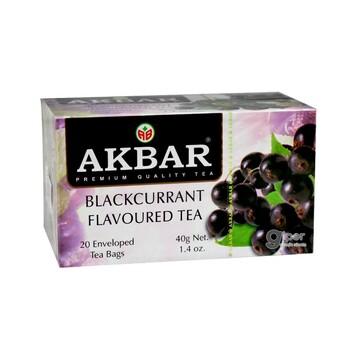 """Чай черный Akbar """"Смородина"""" в пакетиках, 20 шт. (40 г)"""