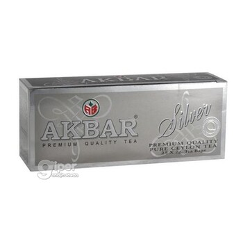 "Чай черный Akbar ""Silver "" в пакетиках, 25 шт. (50 г)"