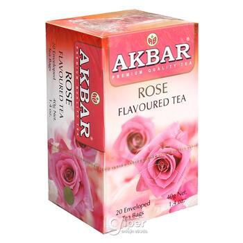 """Чай черный Akbar """"Роза"""" в пакетиках, 20 шт. (40 г)"""