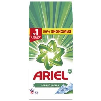 Стиральный порошок Ariel Горный родник (автомат) 12 кг пластиковый пакет