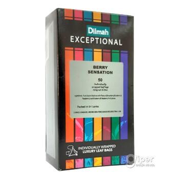 Чай черный Dilmah Exceptional ягодная сенсация в пакетиках 50 шт (100 г)