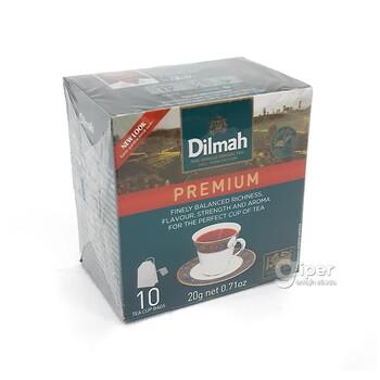 Чай черный Dilmah в пакетиках с ярлыком Premium, 10 шт (20 г)