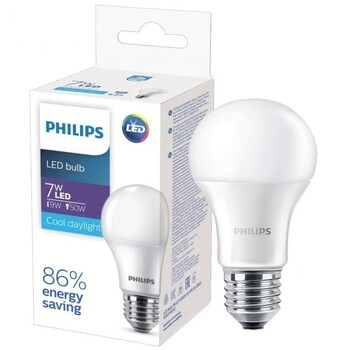 Светодиодная лампа LED Philips LED Bulb 7W E27 6500K HV 1PF/20 GMGC