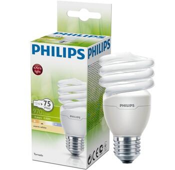 Лампа люминесцентная Philips Tornado T2 1CT/12 2700K, E27, T2, 15Вт