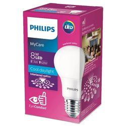 Лампа светодиодная Philips LED 6500K, E27, A60, 8Вт
