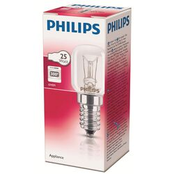 Лампа накаливания для печей Philips Appliance 1CT/10x10F, E14, T25, 25Вт