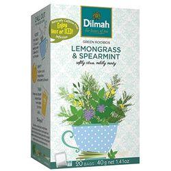 "Чай Dilmah ""GREEN ROOIBOS"" Фруктовый зеленый ройбуш, лемонграсс и мягкая мята в пакетиках, 20 шт (40 г)"