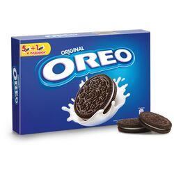 Печенье OREO с какао и начинкой с ванильным вкусом в коробке 228 гр