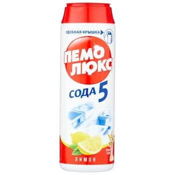Чистящее средство Пемолюкс Сода 5 лимон, 480 г