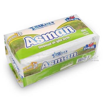 """""""Asman"""" бумажные полотенца для рук и лица, 100 шт"""