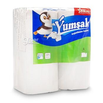 """Туалетная бумага """"Ýumşak"""" 2 слоя, 4 рулона"""