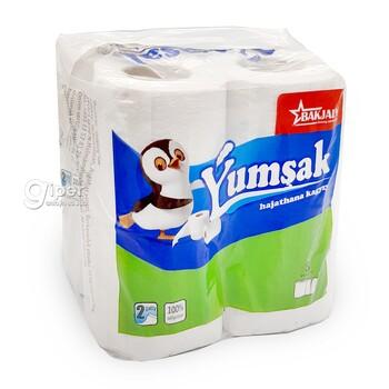 """Туалетная бумага """"Ýumşak"""" 2 слоя, 8 рулона"""