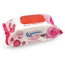 """Влажные салфетки Esma """"Rose Garden"""" пластиковая крышка, 120 шт"""
