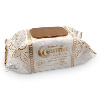 Влажные салфетки Esma пластиковая крышка, 120 шт