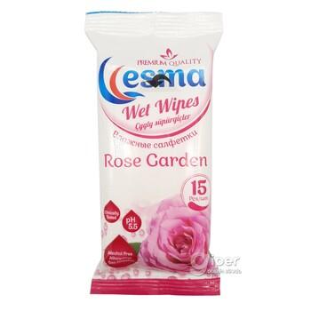 """Влажные салфетки Esma """"Rose Garden"""", 15 шт"""