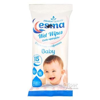 Влажные салфетки для детей Esma, 15 шт