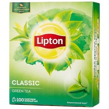 Чай зеленый Lipton Green Classic в пакетиках, 100 шт