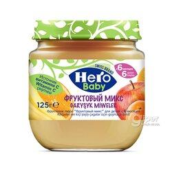 """Пюре Hero Baby """"фруктовый микс"""" (с 6 месяцев) 125 гр"""