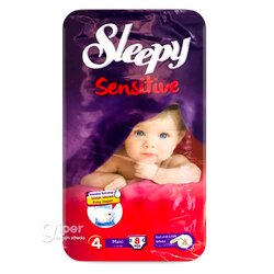 Подгузники Sleepy Sensitive Maxi 4, 7-14 кг, 8 шт