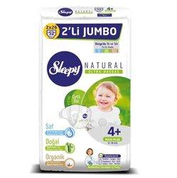 Sleepy Natural Ak Jumbo 2X Maxi 4+, 9-16 кг, 52 шт