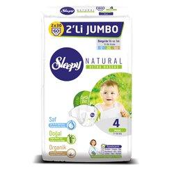 Sleepy Natural Ak Jumbo 2X Maxi 4, 7-14 кг, 60 шт