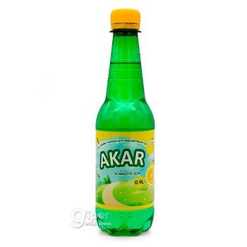 """Безалкогольный газированный напиток Akar """"Лимон"""", 0.4  л"""
