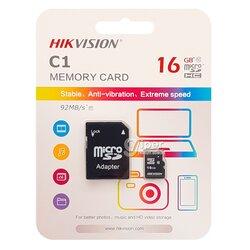 Карта Памяти MicroSD HikVisionHS-TF-C1(STD) 16G + Adapter