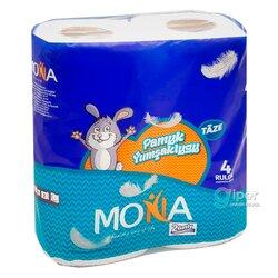 Туалетная бумага Mona Хлопковая мягкость, 2 слоя, 4 рулон
