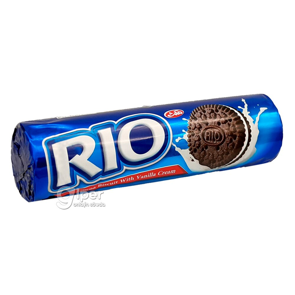 Печенье RIO с какао и начинкой с ванильным вкусом, 170 гр
