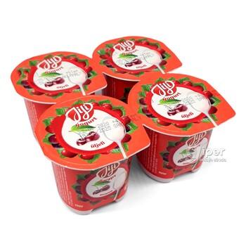 "Продукт Йогуртный ""JiJi"" сo вкусом вишни, 100 гр"